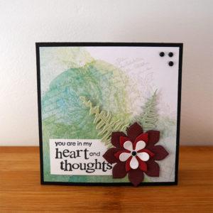 Grönt och lila kondoleanskort